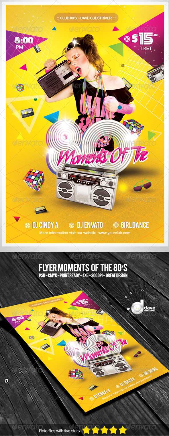 GraphicRiver Flyer Moments Of The 80 s 5276798