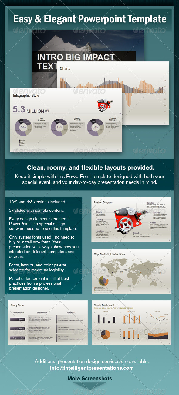 GraphicRiver Easy and Elegant PowerPoint Template 5314608