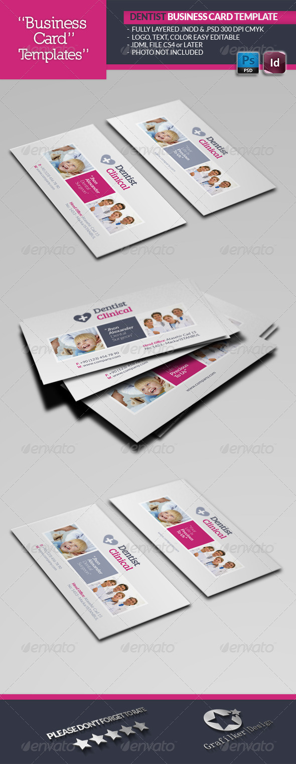 GraphicRiver Dentist Business Card Template 5331756