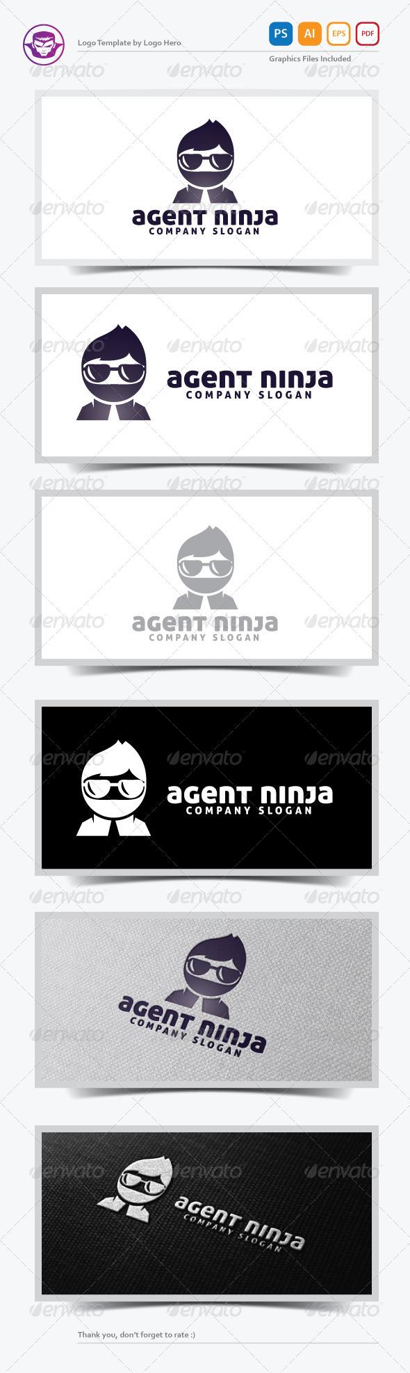 Agent Ninja Logo Template
