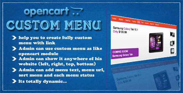 CodeCanyon opencart custom menu 5282632