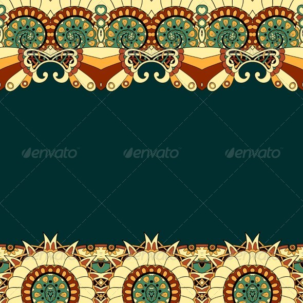 GraphicRiver Floral Mechanism Seamless vector 5332004