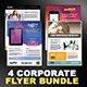 Corporate Flyers Bundle - 4 in 1 - GraphicRiver Item for Sale