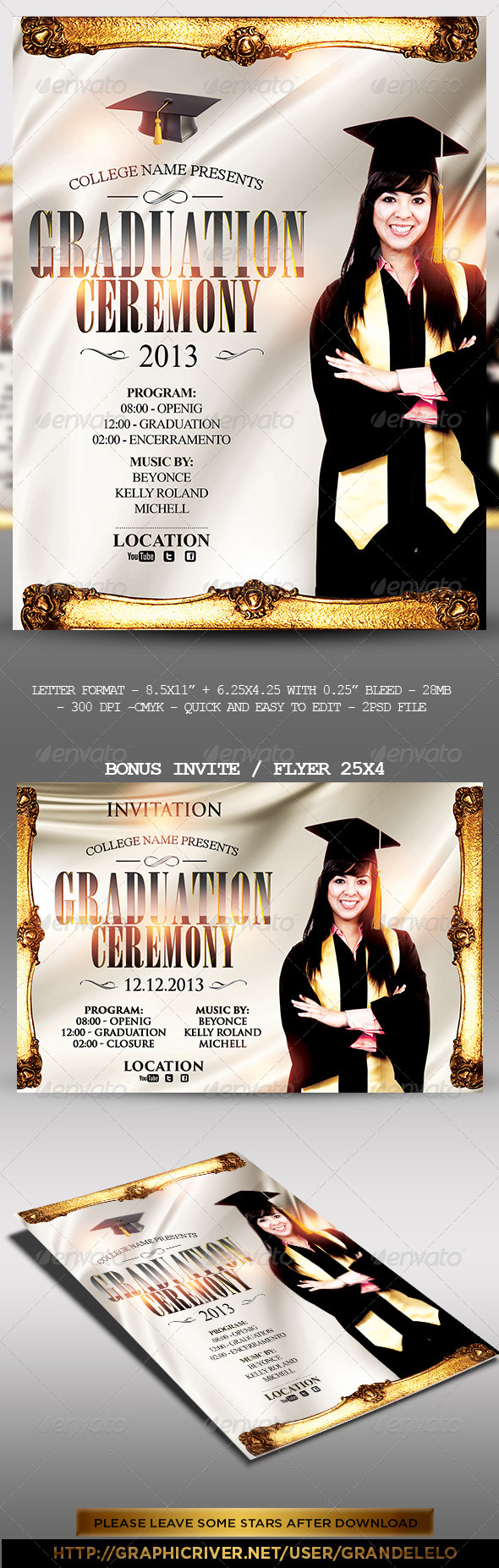 GraphicRiver Graduation Event Poster 5279462