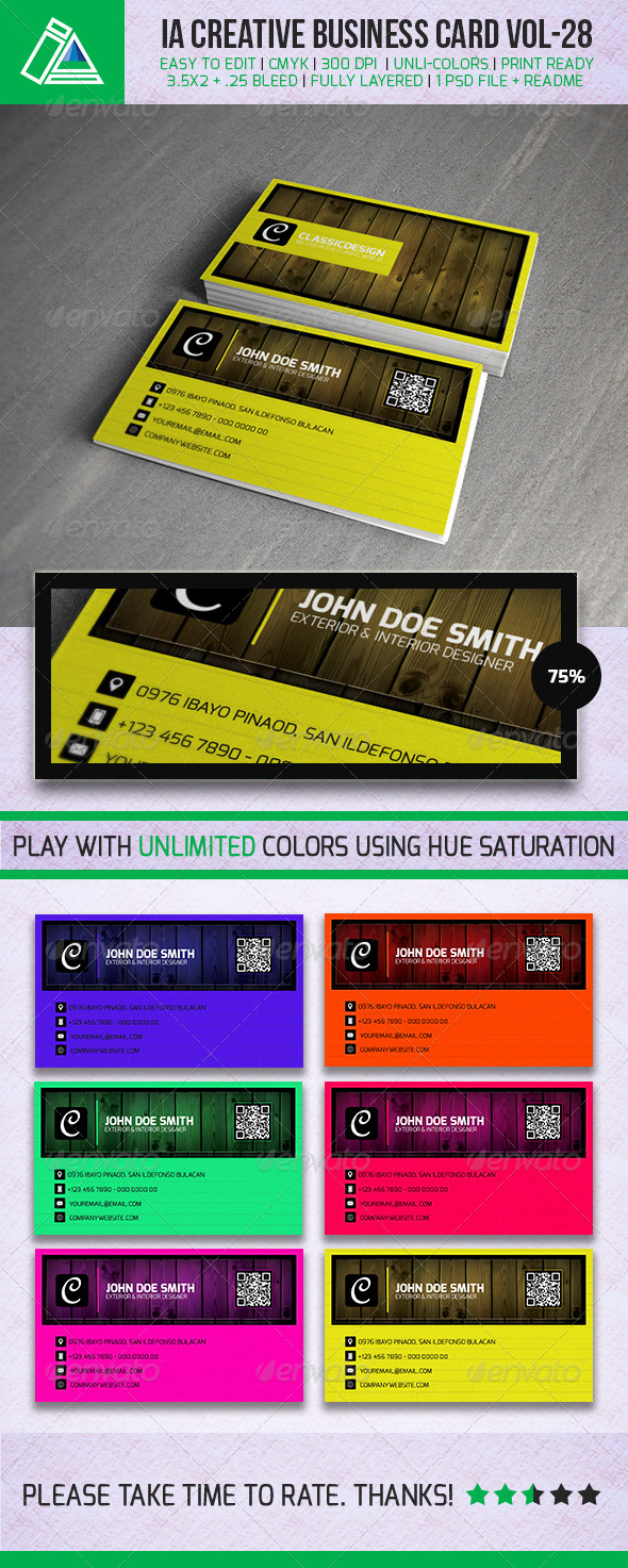 IntenseArtisan Business Card Vol.29 - Creative Business Cards