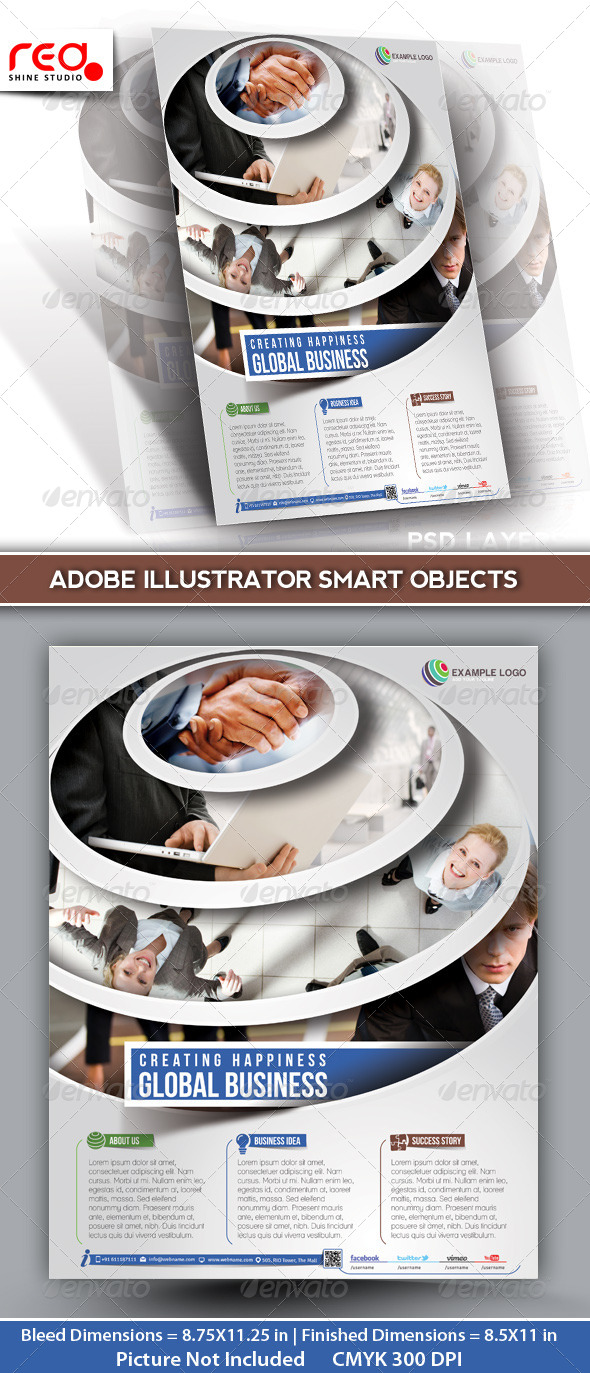 GraphicRiver Global Business Flyer Poster Magazine Template 03 5333139
