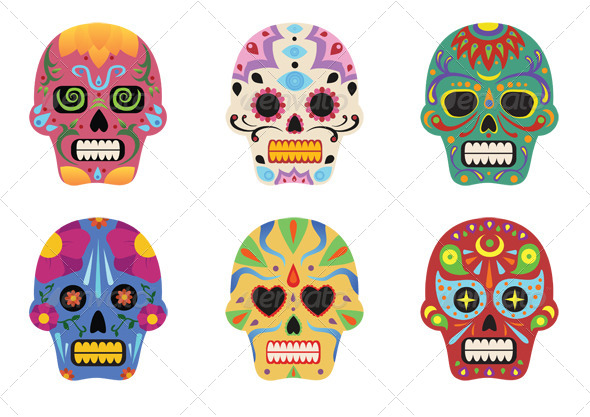 GraphicRiver Sugar Skulls 5325912