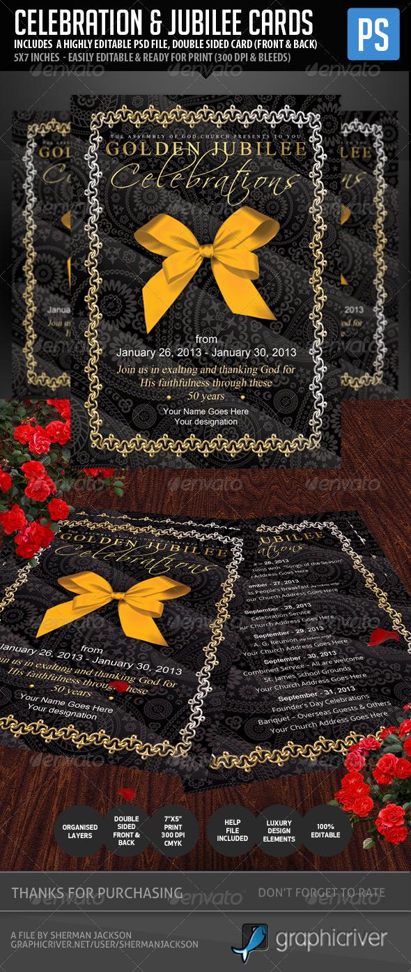 GraphicRiver Celebration & Jubilee Invitation Cards 5333340