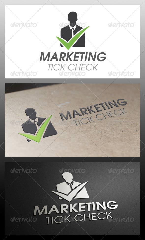 Business Tick Check Mark Logo Template
