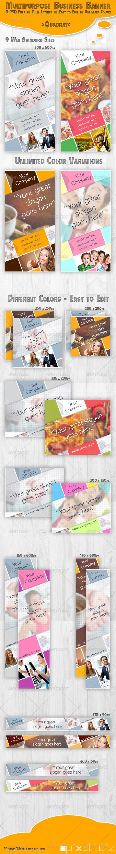 GraphicRiver Quadrat Multipupose Business Banner 5333681