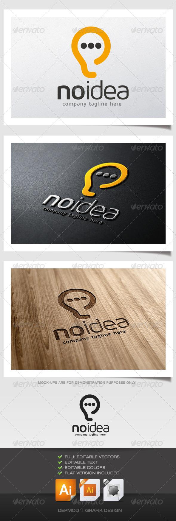 No Idea Logo - Symbols Logo Templates