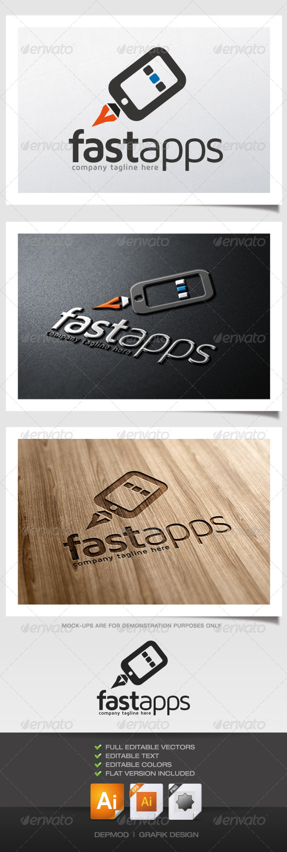 GraphicRiver Fast Apps Logo 5333891