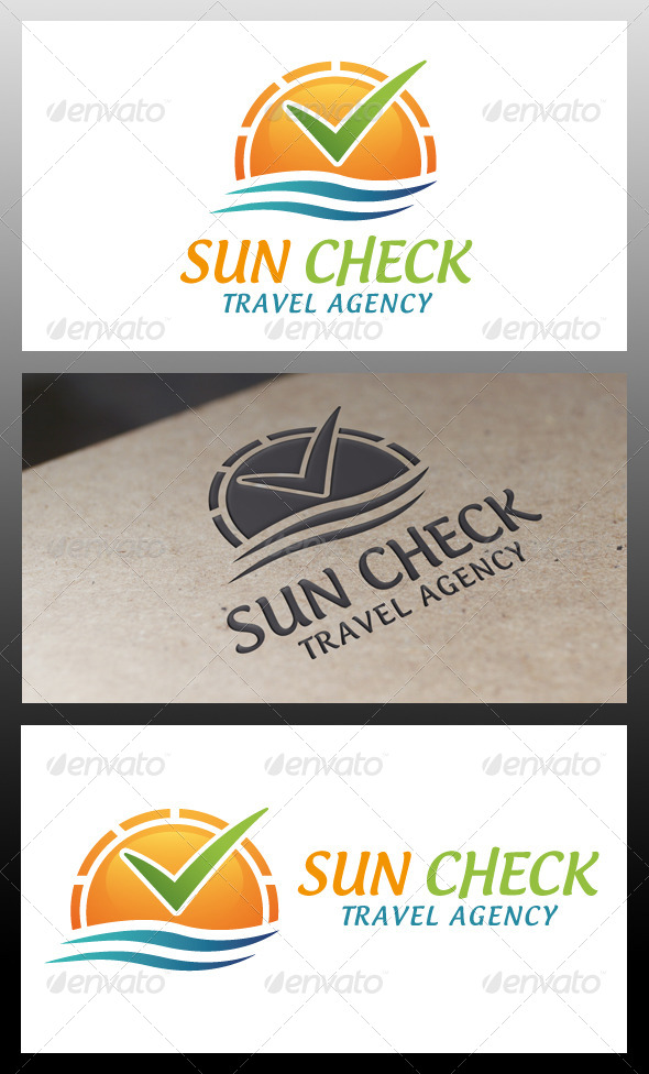 Sun Check Logo Templace