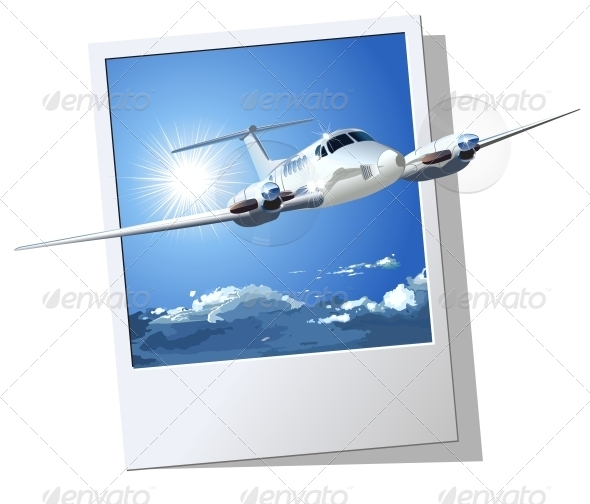 GraphicRiver Civil Utility Airplane 5334196