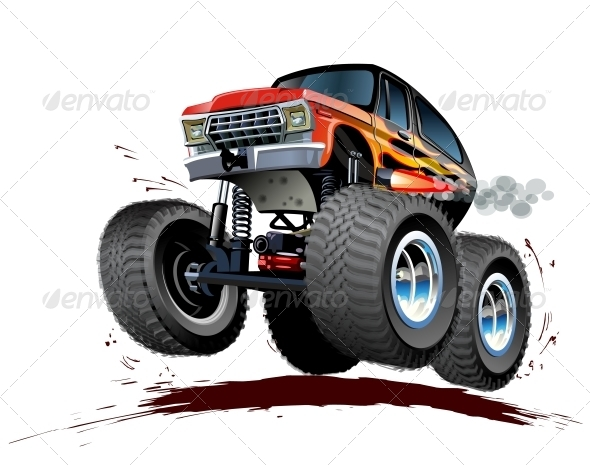 GraphicRiver Cartoon Monster Truck 5334296
