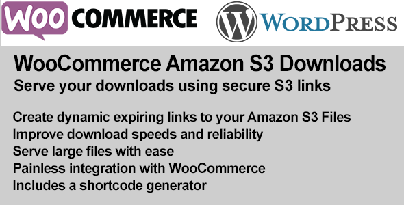 WooCommerce Amazon S3 File Downloads (WooCommerce) images