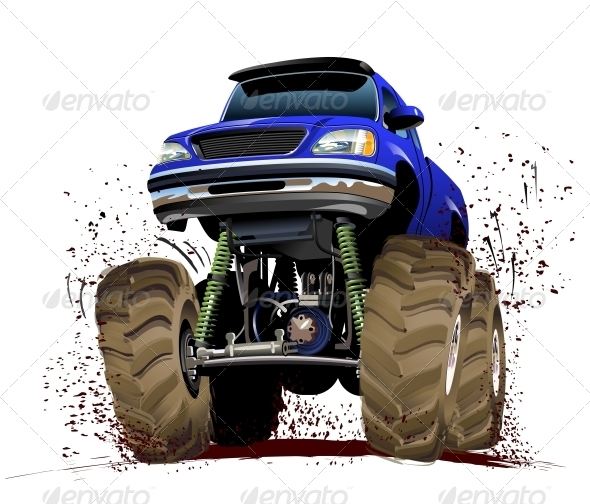 GraphicRiver Cartoon Monster Truck 5334301