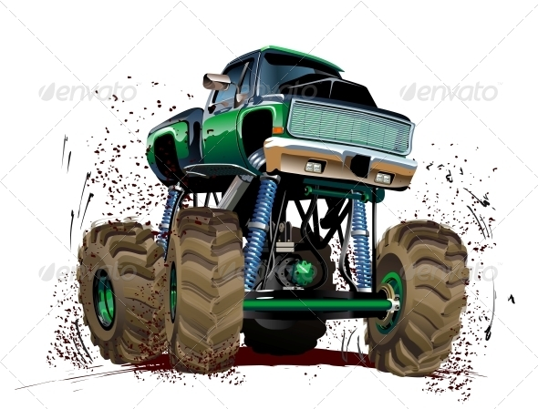 GraphicRiver Cartoon Monster Truck 5334306