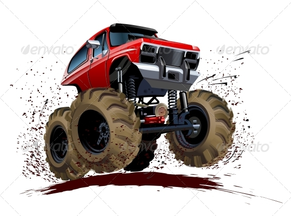 GraphicRiver Cartoon Monster Truck 5334310