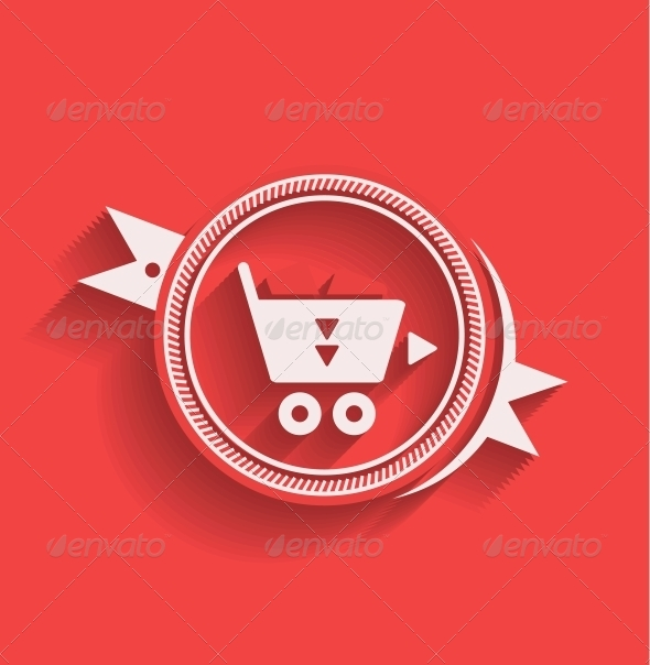 GraphicRiver Shopping Icon Flat Modern Design 5334341