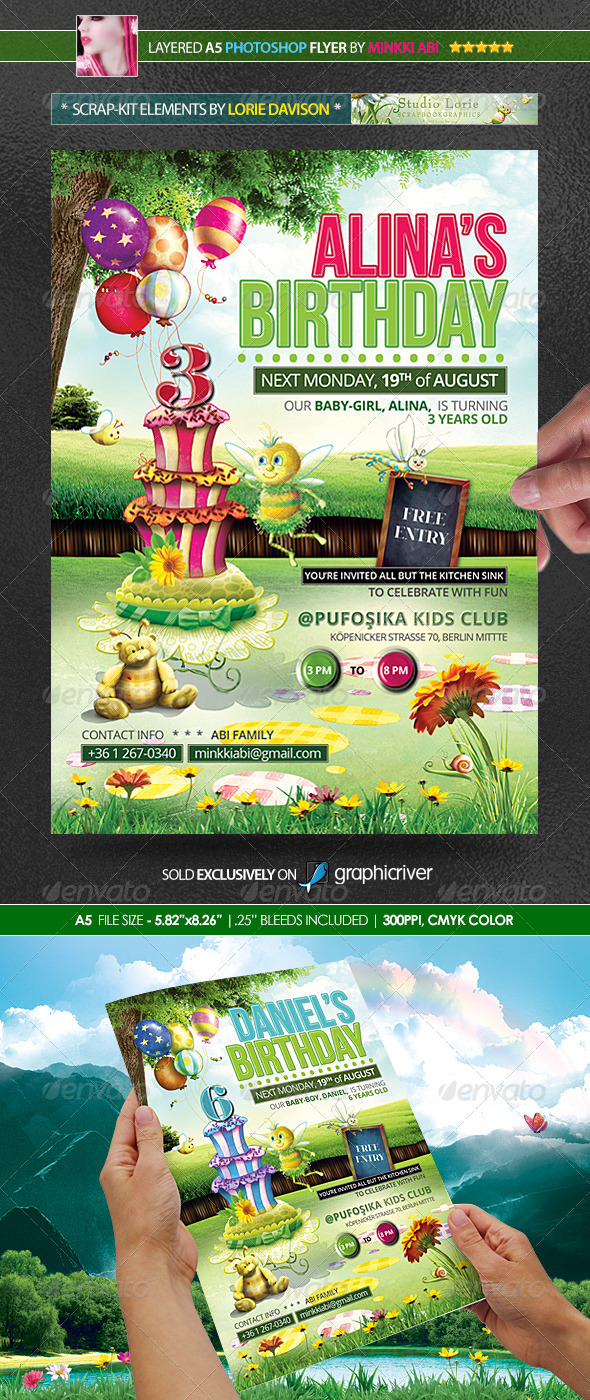 GraphicRiver Kids Birthday Party Poster Flyer 5334503