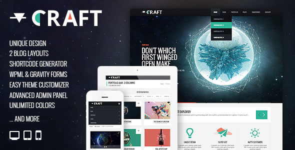 ThemeForest Craft Responsive & Retina Ready WordPress Theme 5334735