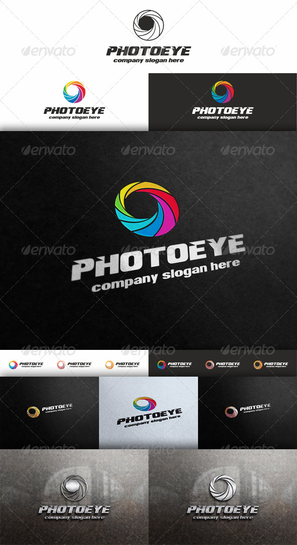 GraphicRiver Photo Eye Diaphragm Logo 5334938