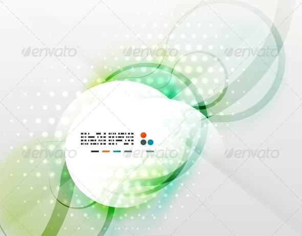GraphicRiver Vector Futuristic Blurred Hi-Tech Shapes 5335207