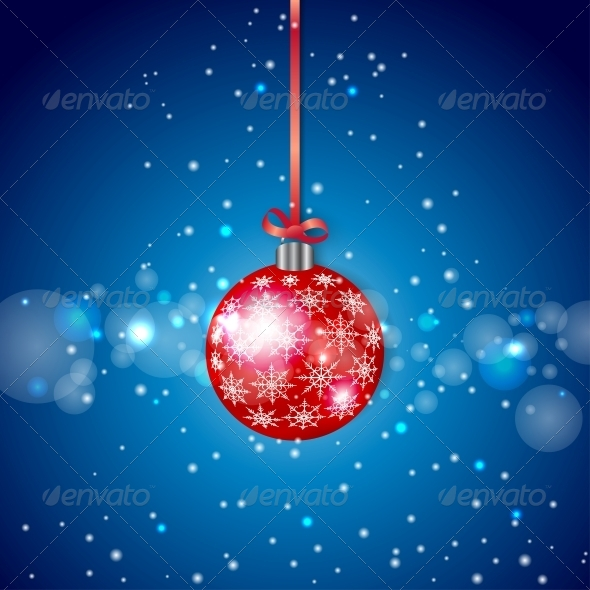 GraphicRiver Red Sparkling Christmas Ball 5335213