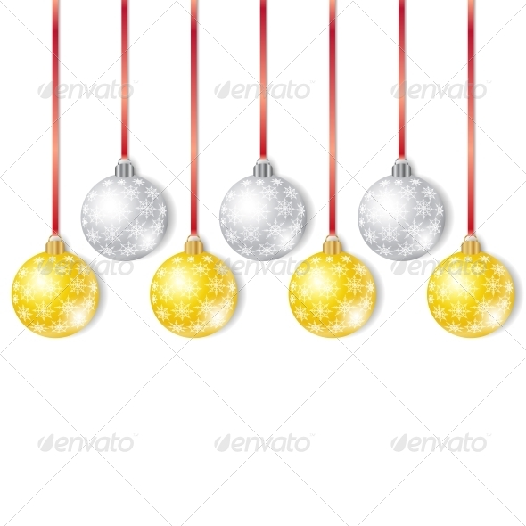 GraphicRiver Gold and Silver Christmas Balls 5335241