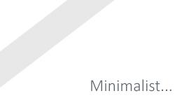 Minimalist Design HTML Sites