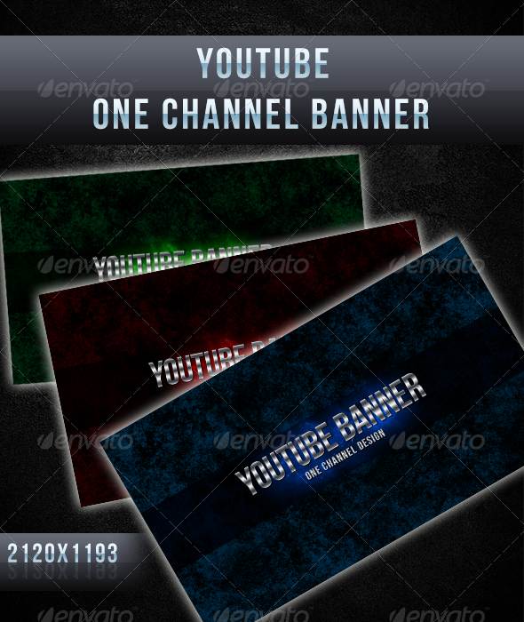 GraphicRiver YouTube One Channel Design Banner 5262262