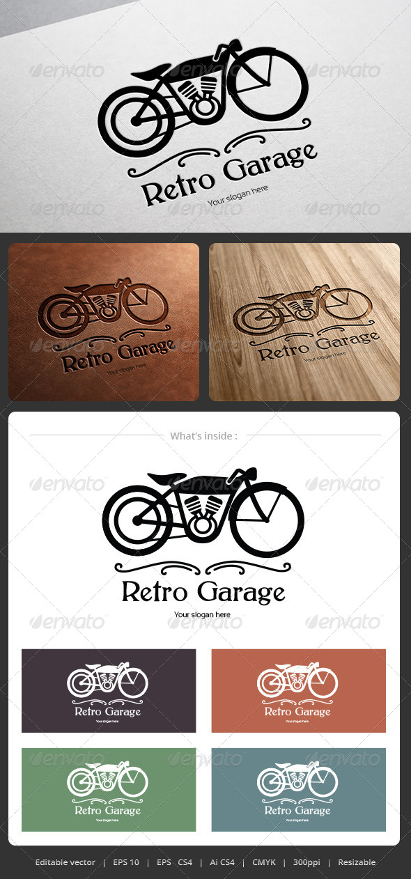 GraphicRiver Retro Garage Logo 5335393
