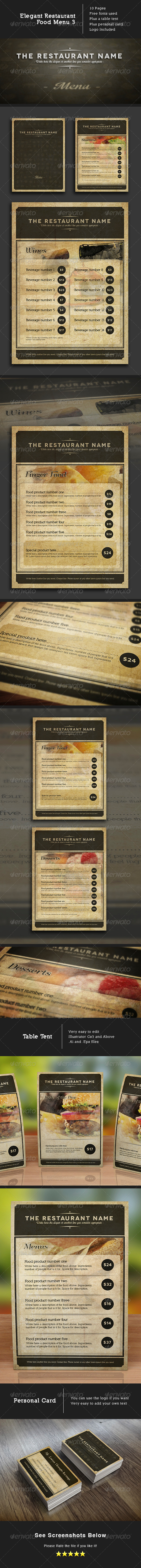 Design Food Menu - Food Menus Print Templates