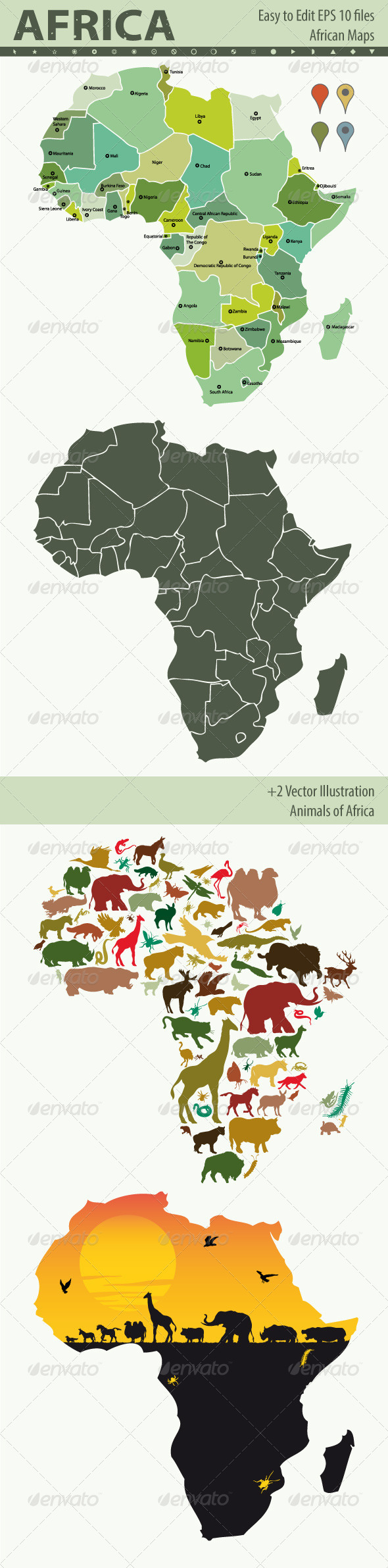 GraphicRiver Africa Map 5337072