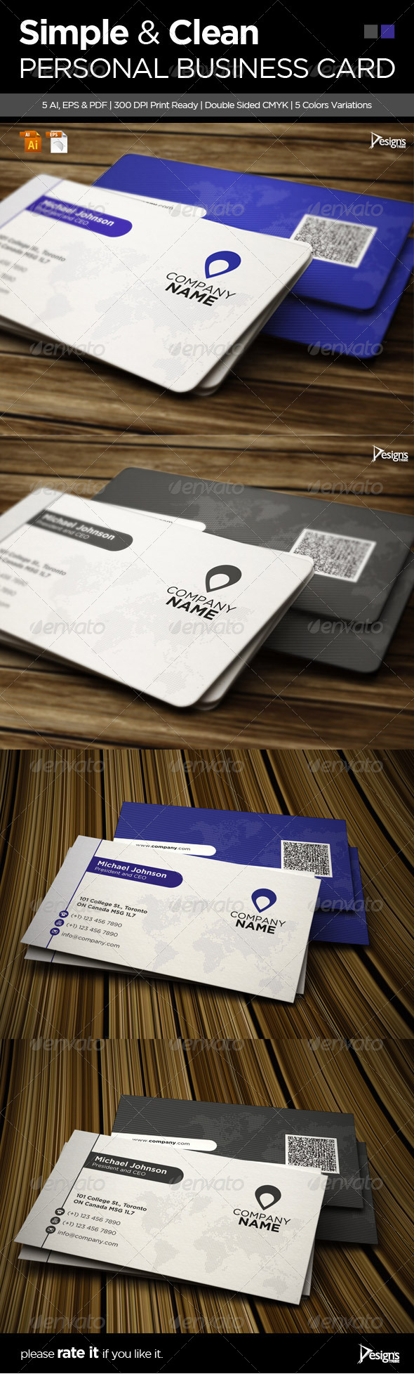 Corporate Creative Business Card 1 - Business Cards Print Templates