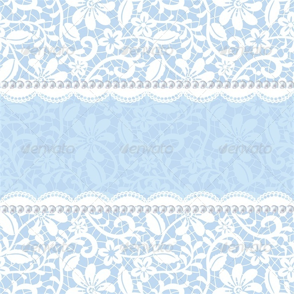 GraphicRiver Pearl Frame and Lace Background 5337141