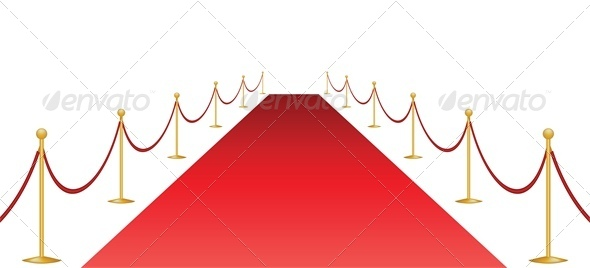 GraphicRiver Red Carpet and Stanchion Isolated on White 5337147