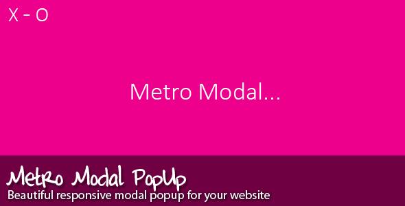 CodeCanyon Metro Modal 5337148