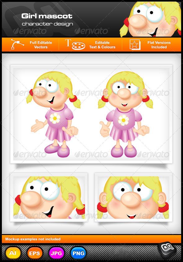 GraphicRiver Girl Mascot 5307983