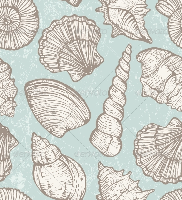 GraphicRiver Vector Pattern with Sea Shells 5337531