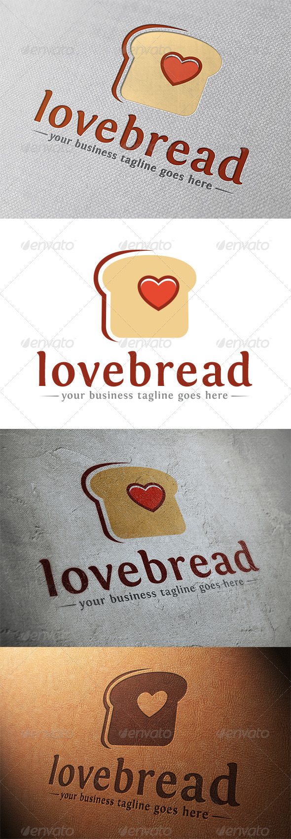 GraphicRiver Love Bread Logo Template 5337565