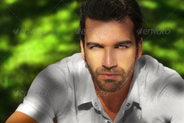 Beautiful man portrait - Stock Photo - Images