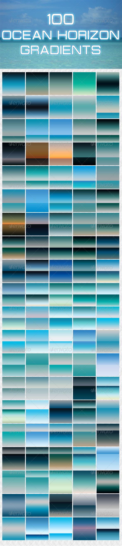 GraphicRiver 100 Ocean Horizon Gradients 5337682