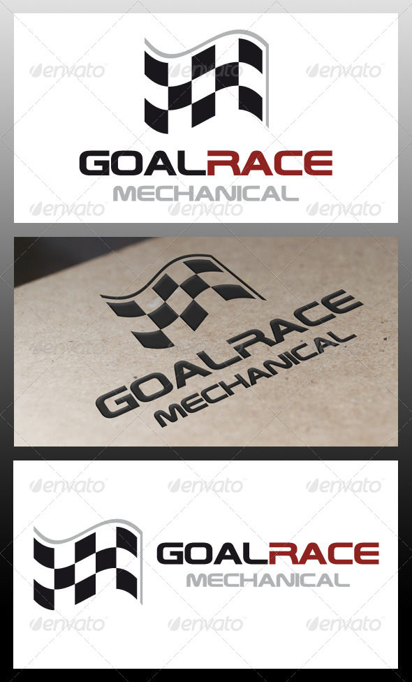 GraphicRiver Goal Race Logo Template 5337954