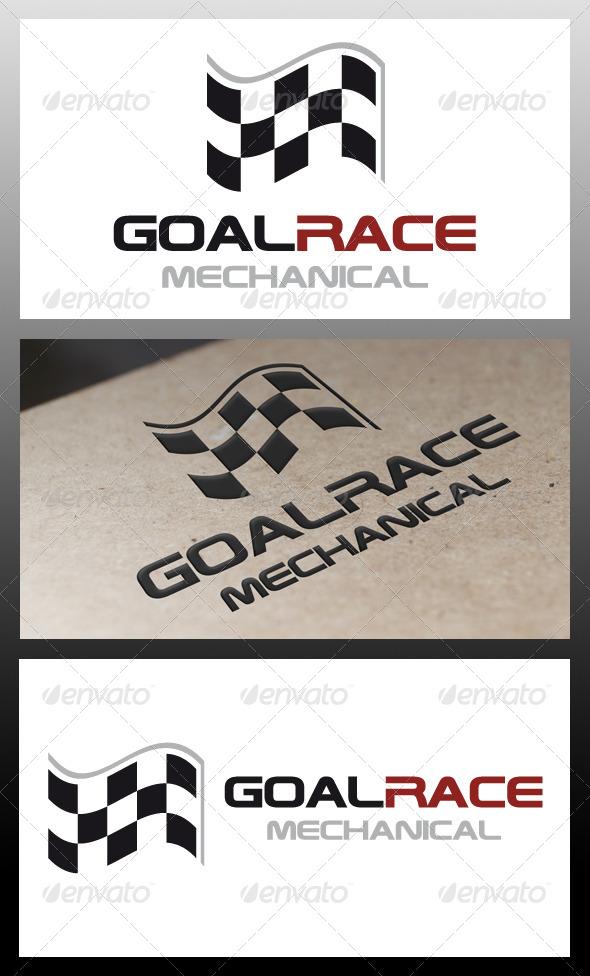 Goal Race Logo Template