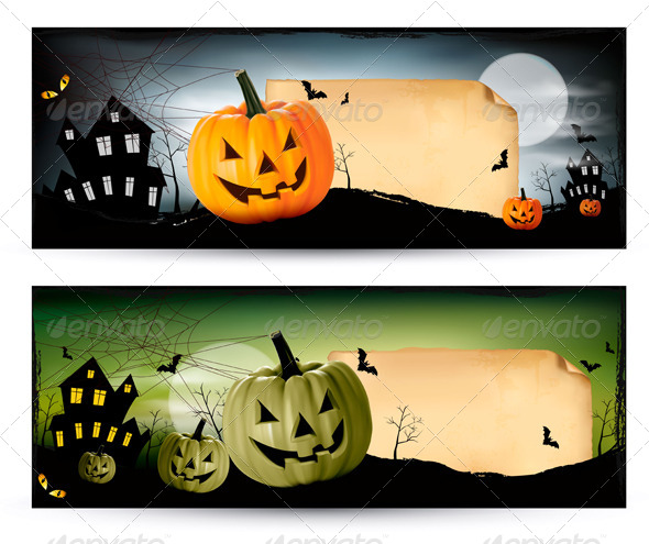 GraphicRiver Two Halloween Banners 5337985