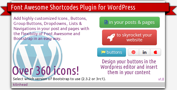 CodeCanyon Font Awesome Icons & Bootstrap Buttons 5337995