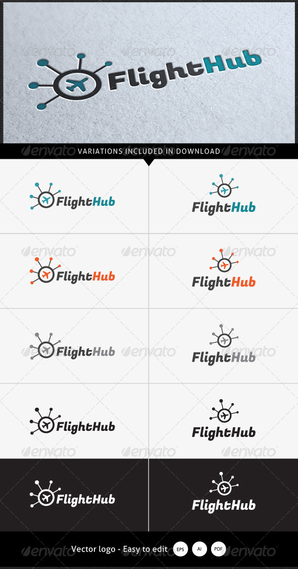 GraphicRiver Flight Hub Logo 5338229