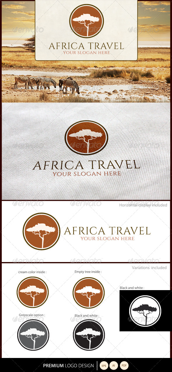 GraphicRiver Africa Travel Logo 5338240
